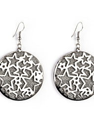 European Style Gold/Silver Star Earrings Jewelry for Women