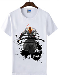 Cotton Lycra Men's T-shirt/World of Warcraft Wow Ink Series 1Pc Blademaster