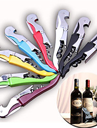 Multi-function Metal Corkscrew Wine Beer Bottle Cap Opener Hippocampus knife(Random Color)