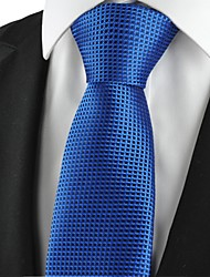 New Plaid Checked Navy Classic Mens Tie Formal Suit Necktie Holiday Gift KT1029