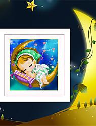 поделок 5d алмазов вышивки луны ангел мальчиков и девочек волшебный кубик круглый бриллиант картины вышивки крестом наборы алмазов мозаика