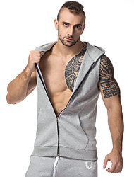 Muscle Brothers Men's Hooded Sleeveless Vest Slim Vest Running Training