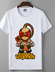 LOL League of Legends Blind Monk Cosplay T-shirt Heroes Union Cotton Lycra