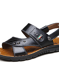 Men's Shoes Casual Leather Sandals Black / Brown