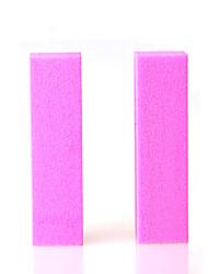 2pcs много красочные искусства ногтя шлифовка полировка файл / блок ногтей