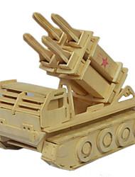 Quebra-cabeças Quebra-Cabeças 3D Quebra-Cabeças de Madeira Blocos de construção Brinquedos Faça Você Mesmo Madeira BegeModelo e Blocos de