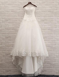 Trumpet / Mermaid Wedding Dress Court Train Sweetheart Lace / Tulle with Lace
