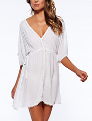 Women's Fashion Sexy V Neck Cover-Ups , Chiffon