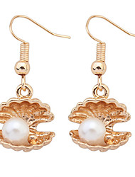 Drop Earrings Imitation Pearl Shell Alloy Fashion Jewelry Party Daily Casual 1 pair