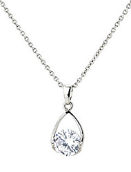 3D Crystal Zircon Choker Pendant Necklace Jewelry for Lady Wedding Party Gift