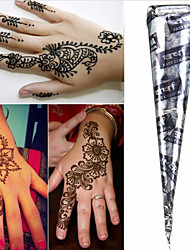 Black* Herbal Henna Cones Temporary Tattoo Kit Body Art Mehandi Ink Hina