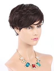 """6 """"cabelo curto nenhum perucas sem tampa humano perucas # 2 cabelo virgem brasileiro para as mulheres negras"""