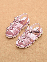Girls' Shoes Dress / Casual Comfort / Open Toe Sandals Pink / Gold