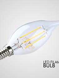 3W E14 Ampoules Bougies LED B 4 COB ≥300 lm Blanc Chaud Décorative AC 100-240 V 1 pièce