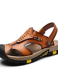 Men's Genuine Leather Slippers Outdoor Flip-Flops Comfortable Sandals