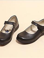 MädchenKleid-PU-Flacher Absatz-Geschlossene Zehe-Schwarz