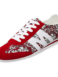 Men's Fashion Canvas Shoes Breathable Casual Fabric Sneakers Running Shoes Blue / Red / Gray