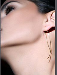 Stud Earrings Copper Simple Style Black Silver Golden Jewelry Party Daily Casual 1 pair