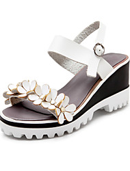 Women's Shoes Leatherette Wedge Heel Wedges / Platform / Slingback / Creepers / Open Toe Sandals Wedding / Outdoor