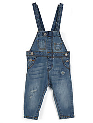 Girl's Casual/Daily Jeans,Cotton All Seasons Blue