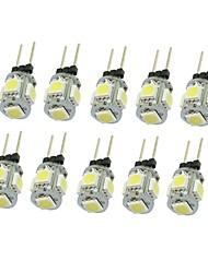 10x g4 gz4 mr11 1.5w 5 led 5050 bleu / rouge / chaud blanc / vert / jaune / blanc led éclairage intérieur lampe dc12v