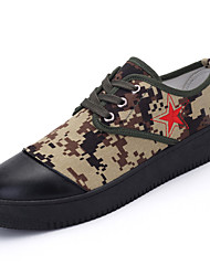 China Styles Men's Shoes Casual Canvas Fashion Sneakers Green / Khaki