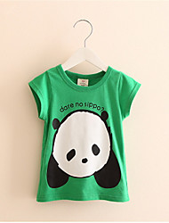 Hot Sale 2016 Unisex Baby Kids Panda Printed Cotton T Shirt Children Cute Summer Top Cloth