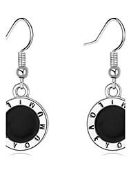 Simple Round Earrings Silver Ear Hook Dangle Drop Earrings 2016 Fashion Women Jewelry