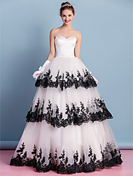 Lanting Bride A-line Wedding Dress-Floor-length Sweetheart Tulle