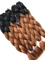 #30 Box Tranças Jumbo Extensões de cabelo 24inch Kanikalon 3 costa 80-100g/pcs grama Tranças de cabelo