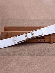 Women Leather Stretch Wide Belt,Vintage / Cute / Party / Casual Alloy