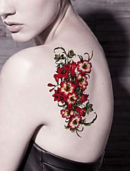 5 Tatouages Autocollants Séries de fleur / Cartoon Series Non Toxic / Motif / WaterproofHomme / Femme / Adulte / Adolescent flash Tattoo