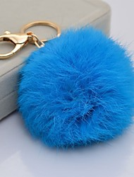 Rabbit fur ball keychain car ornaments plush fur bag cute female key chain pendant