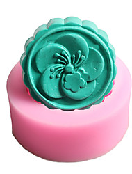 Sakura  Shaped  Soap Molds Mooncake Mould Fondant Cake Chocolate Silicone Mold, Decoration Tools Bakeware