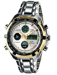 Masculino Relógio Esportivo Relógio de Moda Relógio de Pulso LED Calendário Cronógrafo Impermeável Dois Fusos Horários alarme Luminoso