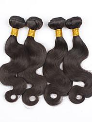 3Bundles peruano onda virgem corpo cabelo cabelo humano não transformados tece extensão do cabelo vison