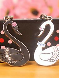 A Pair New Christmas Gift Silver Alloy Cute animal couple keychain swan couple Key Chain Lovers Keychain