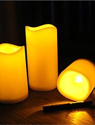 1pcs / set levou decorativo bateria de cera sem chama pilar velas operado vela acender velas electrónicas
