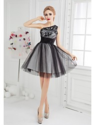 Cocktail Party Dress Ball Gown One Shoulder Short/Mini Tulle