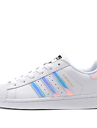 Adidas Originals Superstar Junior Running Shoes Men's Wearproof White Running/Jogging Lace-up Real Leather