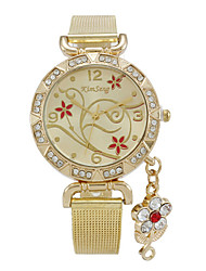 Woman's    Love Flowers Embossed Diamond Watch Cool Watches Unique Watches