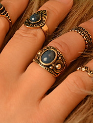 Statement Rings Gemstone Alloy Fashion Bronze Jewelry Party Daily Casual 1set