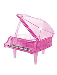 Quebra-cabeças Quebra-Cabeças 3D / Quebra-Cabeças de Cristal Blocos de construção DIY Brinquedos Piano ABS RosaModelo e Blocos de