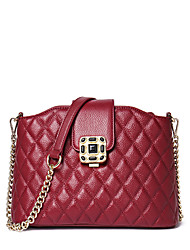 NAWO Women Cowhide Shoulder Bag Burgundy-N153311