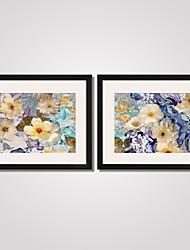 Цветочные мотивы/ботанический / Пейзаж / Праздник / Отдых Отпечаток в раме / Холст в раме / Набор в раме Wall Art,ПВХ ЧерныйКоврик входит