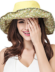 Women Cotton Blend Sun Hat Facial Hydrating UV Cream,Vintage / Cute / Party / Work / Casual Spring / Summer / Fall