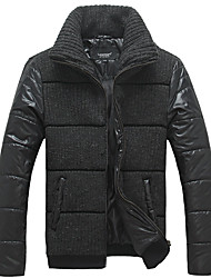 Lesmart Men's Stand Long Sleeve Down & Parkas Black - PW13573