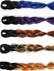 Anime Cosplay Wig Color Chemical Fiber Braid African Black Wig Gradients