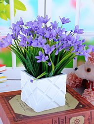High Quality  Simulation Flower With Pot Artificial Flower With Pot Emboitement