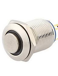 12mm 3v синий индикатор моментальное кнопочный переключатель металла для автомобиля серебра